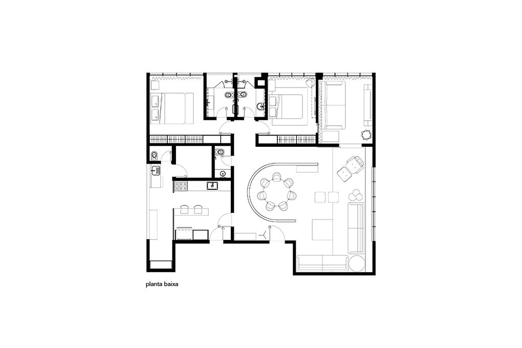 Planta Apartamento Itaim