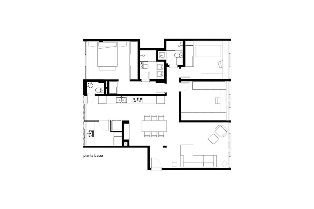 Planta Apartamento Sadi